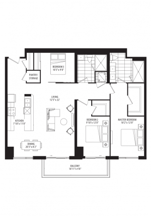 01C - 3 Bedrooms - 1384 sq.ft.