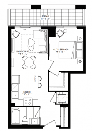 12A - 1 Bedroom - 559 sq.ft.