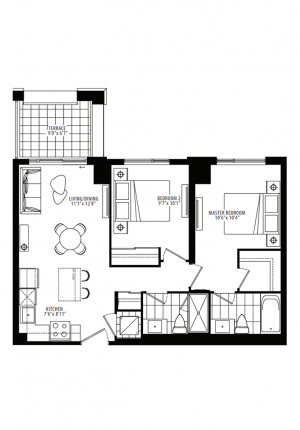 19A - 2 Bedroom - 756 sq.ft.